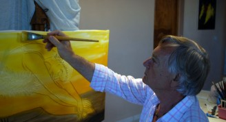 El dibujante, pintor y escultor italiano Giulio Gioia