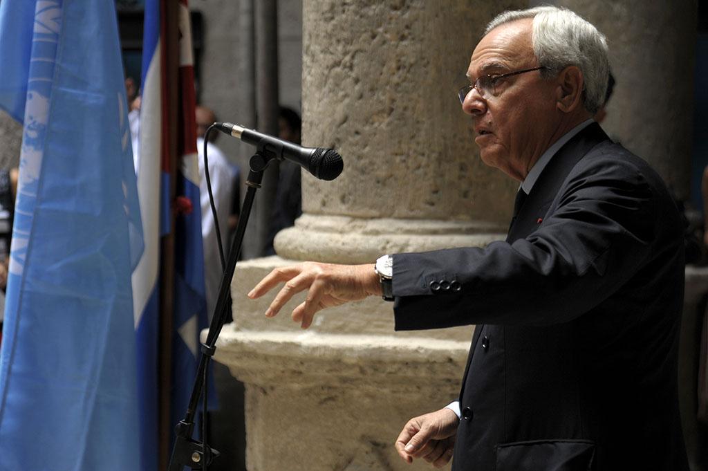 El Dr. Eusebio Leal Spengler durante la apertura del Palacio del Segundo Cabo. Fotos: Néstor Martí