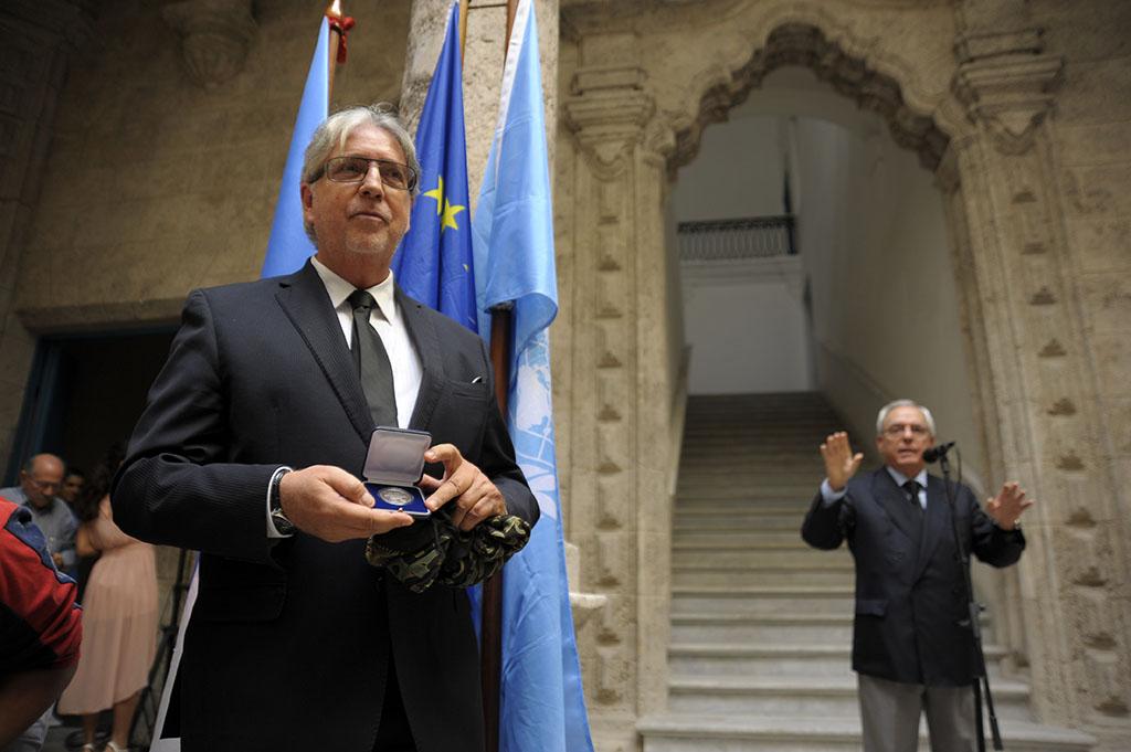 El Sr. Herman Portocarrero,Embajador jefe de la Delegación de la Unión Europea en Cuba. Fotos: Néstor Martí