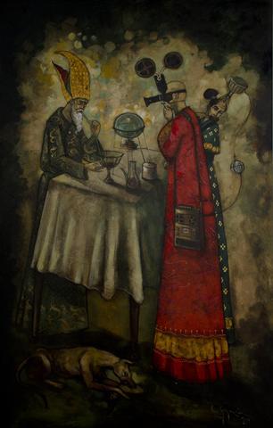 """""""Puntada apuntada rehago el universo"""" muestra que se exhibe en la Casa de la Obra Pía. / Foto Alexis Rodríguez"""