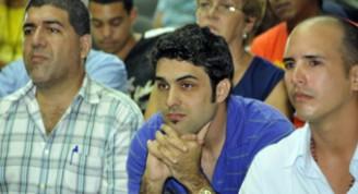 Osvaldo Pestana Montpeller (Montos) entre los ganadores del concurso Ojalá de 2012