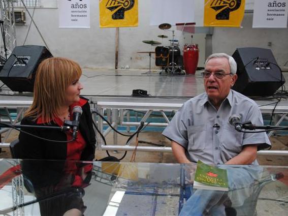 Magda Resik con Eusebio Leal