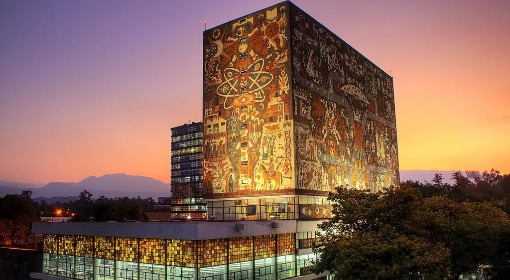 Detalle de la Universidad Autónoma de México, Patrimonio Cultural de la Humanidad