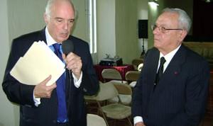 Pdte.de la Academia de la Historia de Rep.Dominicana,Bernardo Vega presenta a Eusebio Leal