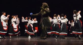 Momentos de la clausura del Festival La Huella de España