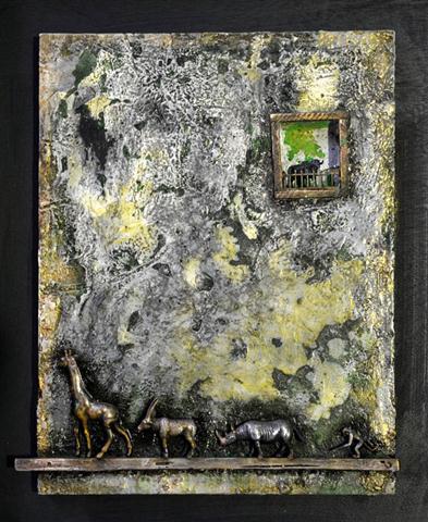 Historia de la oveja negra (2014) collage  34x44 cm