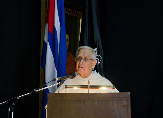 Fray Uña Fernández – Vicario de la Orden de Predicadores en Cuba y fundador del Centro de Estudios Fray Bartolomé de las Casas / Foto Alexis Rodríguez / HR