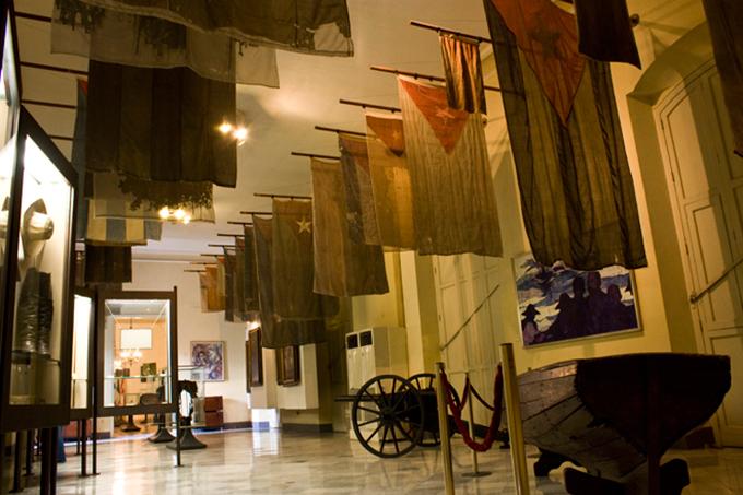 Sala de las banderas del Museo de los Capitanes Generales