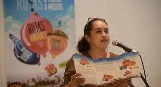 Katia Cárdenas, durante la conferencia de prensa / Foto Néstor Martí