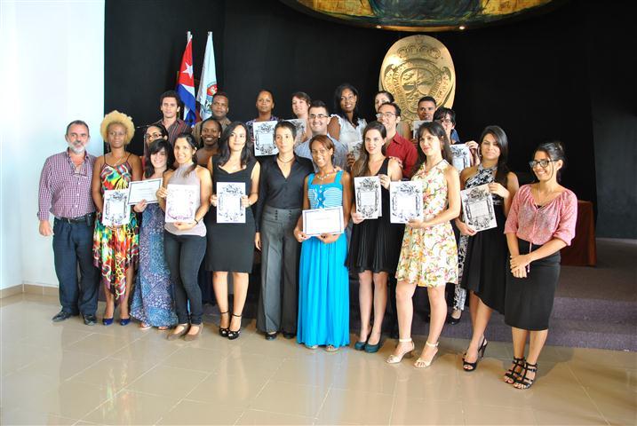 Graduación de los estudiantes que cursaron la V edición del Diplomado en Patrimonio Musical Hispano y la I edición del Diplomado en Patrimonio Musical Organístico