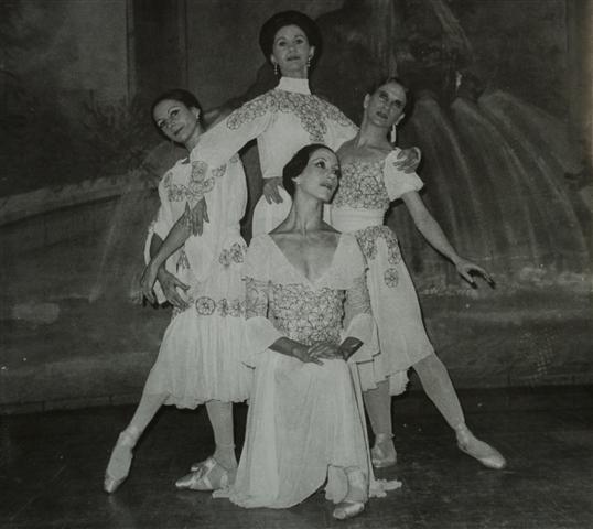 """""""Tarde en la siesta"""" con Mirta Plá, Marta García, Ofelia González y la hoy Premio Nacional de Danza María Elena Llorente (1974)"""