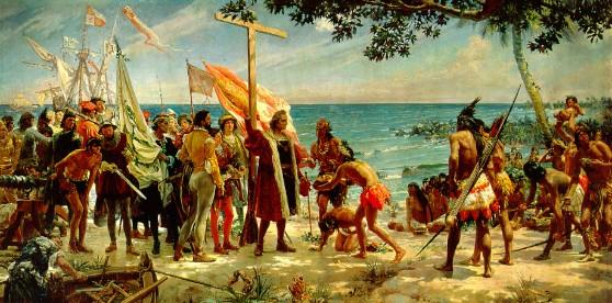 Primer-homenaje-del-Nuevo-Mundo-a-Colón-José-Garnelo-y-Alda-1892