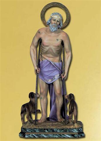 San Lázaro, que es Babalú Ayé. Lo más interesante es que en el santuario nacional de San Lázaro están las dos representaciones: el San Lázaro obispo y el Lázaro de las muletas y los perros