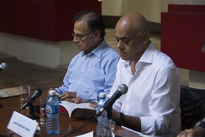 Alí Rodríguez Araque, Embajador de la República Bolivariana en Cuba junto a Jorge Rodríguez Gómez, Alcalde del Municipio Libertador de Caracas
