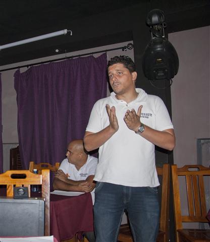 Camilo Condis durante IV Taller de Manejo y Gestión barrial