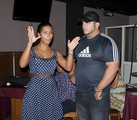 Adriana Toirac y Lionel Delgado