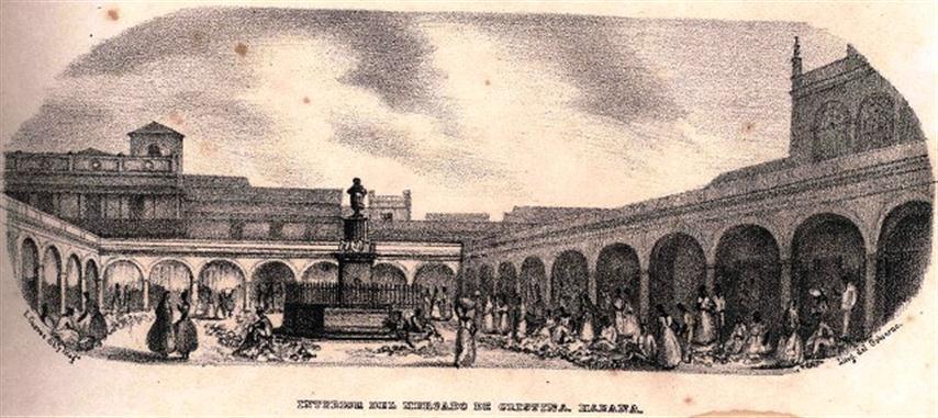 Plaza, Mercado de Cristina, S. XIX