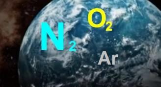 Entre las componentes del aire atmosférico se destacan el Nitrógeno (N2 - 78 %), el Oxígeno (O2 - 21%) y el Argón (Ar - 0,934 %)