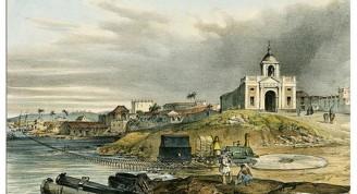 Foto antigua de la iglesia de Regla 1839. (Small)