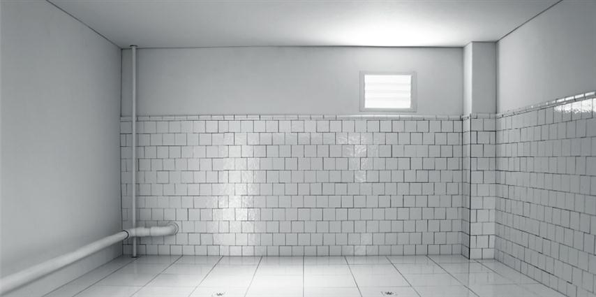 """Primer Premio de Post-it: Linet Sánchez, de Villa Clara, por el proceso de creación a partir de la concepción de marquetería para construir la fotografía, a la obra No 8 de la serie """"Sin Título 2014"""""""