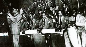 Chano Pozo with Dizzy Gillespie
