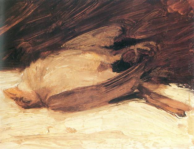 """""""El gorrión muerto"""", Franz Marc"""