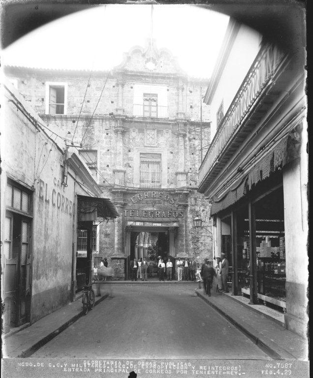 3-Calle Teniente Rey, vista al convento de SFco., 1929