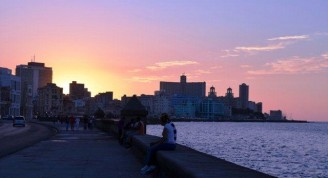 6-Malecón hoy, atardecer