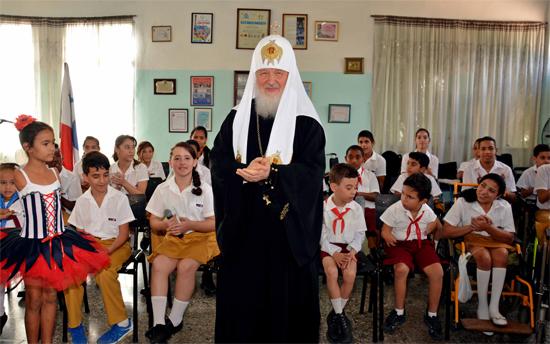 Un día de gran fiesta para el Patriarca Kirill. / Foto: Modesto Gutiérrez