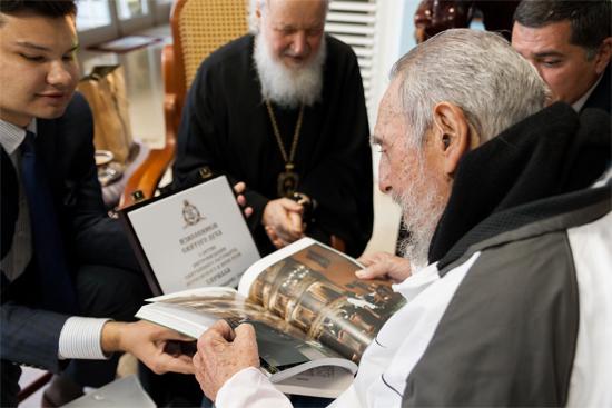Su Santidad Kirill junto a Fidel Castro. Foto: Alex Castro