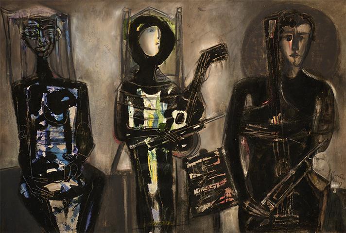 """Los tres músicos"", obra de Nélson Domínguez, imagen del Festival"