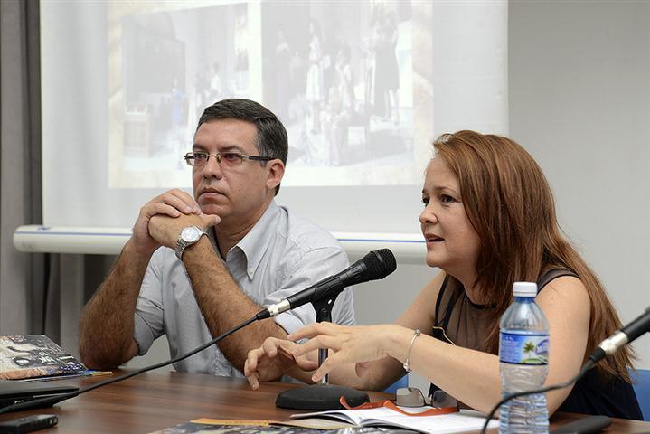 Félix Julio Alfonso, coordinador asistente del Colegio Universitario de San Gerónimo y Teresa Paz, directora de Ars Longa (Small)