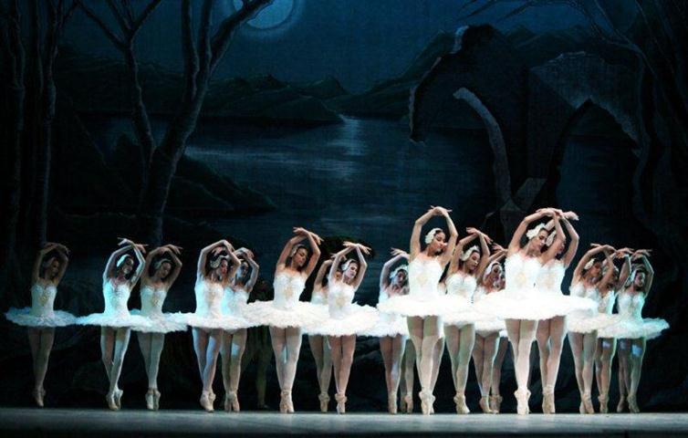 """Escena de """"El lago de los cisnes"""" en """"La magia de la danza"""""""