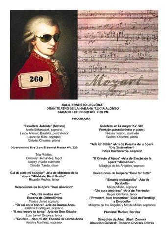 Mozart 260 en la Sala Lecuona