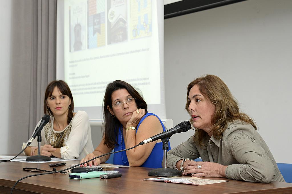 Mylena Suárez, directora de Boloña, Vitalina Alfonso, Jefa de redacción y Marjorie Peregrín, responsable del proyecto de multimedias del sello editorial