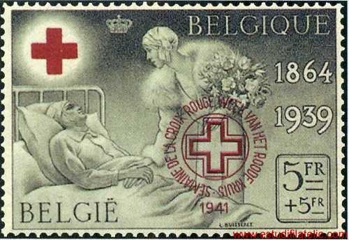 Sello de 1939 Cruz Roja Lujo