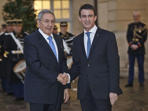 Con el Primer Ministro francés, Manuel Valls (Foto: Michel Euler/ AP)