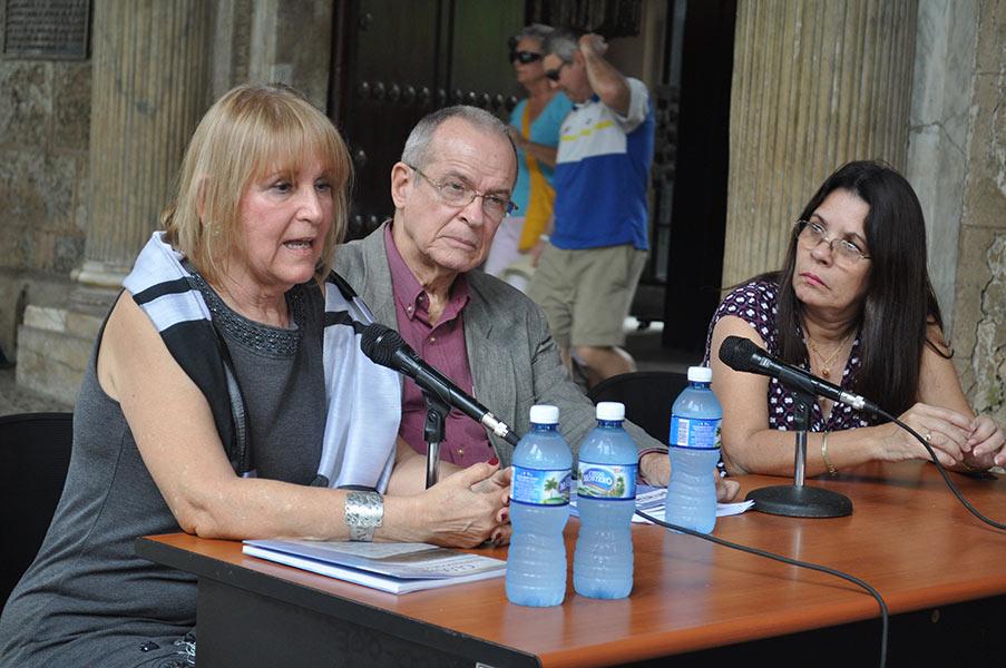 La autora agradeció a Ediciones Boloña y al Historiador de la Ciudad poder presentar esta publicación en La Habana