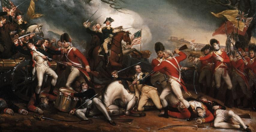 Batalla de Princenton. Ante la victoria de Washington los británicos abandonan New Jersey