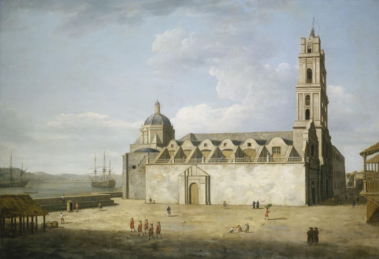 Convento San Francisco de Asís en 1762 - Colección Museo Real de Greenwich