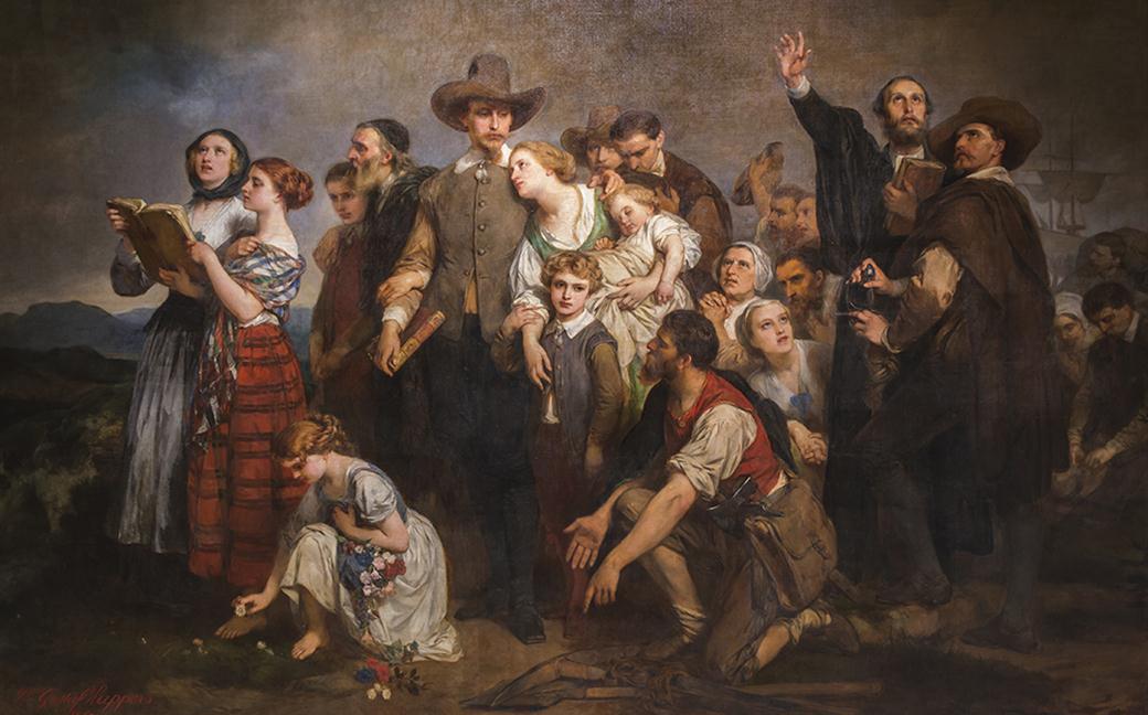 Desembarco-de-los-Puritanos-pasajeros-del-MayFlower-en-la-Roca-de-Plymouth-1867-Medium