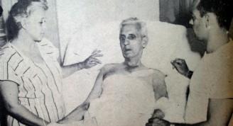Fernando Lecuona tras el accidente que le costaríala vida. junto con él su esposa, Josefina Ascencio y su hijo Fernando