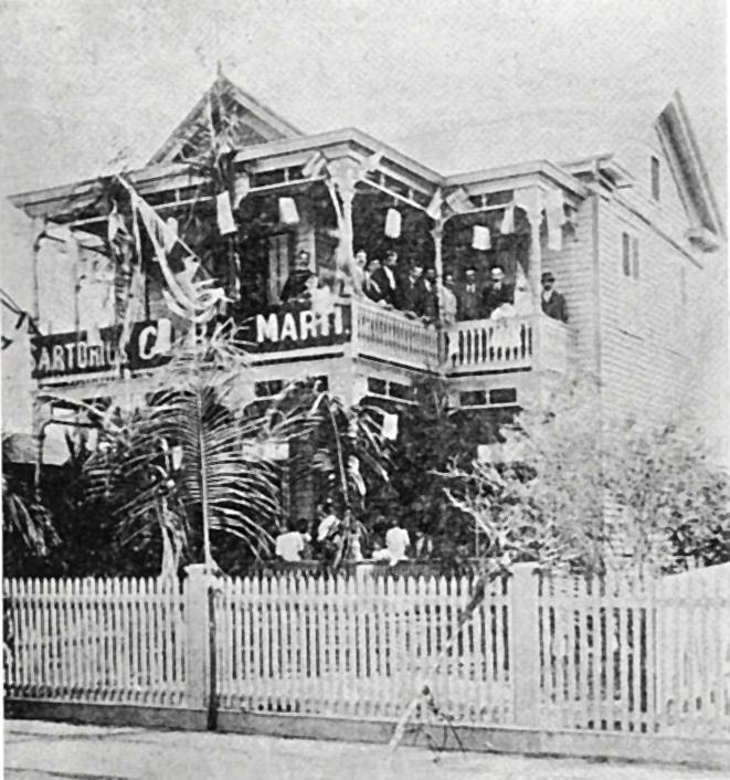 José Martí en la casa de Teodoro Pérez en Cayo Hueso Estados Unidos 1894