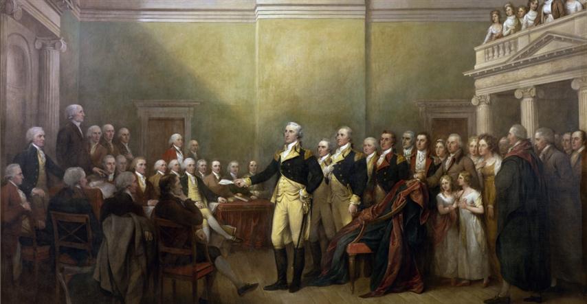 Luego del Tratado de París, Washington se terira como Comandante en Jefe del Ejército Continental, permitiendo que se instaure una verdadera república