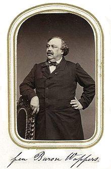 Retrato del barón Wappers, por Ghémar Frères.