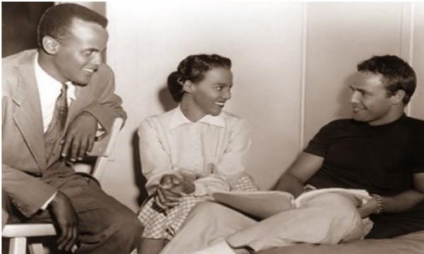 Harry Belafonte, Dorothy Dandridge y Marlon Brando