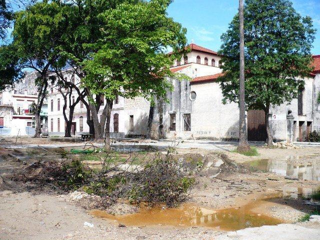 Plaza del Cristo (obras, 2014)