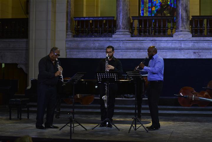 Momentos de la clausura de la Fiesta de los Clarinetes