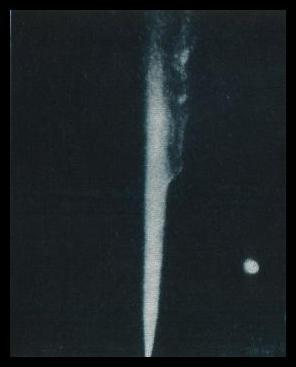 El cometa Halley el 13 de mayo de 1910