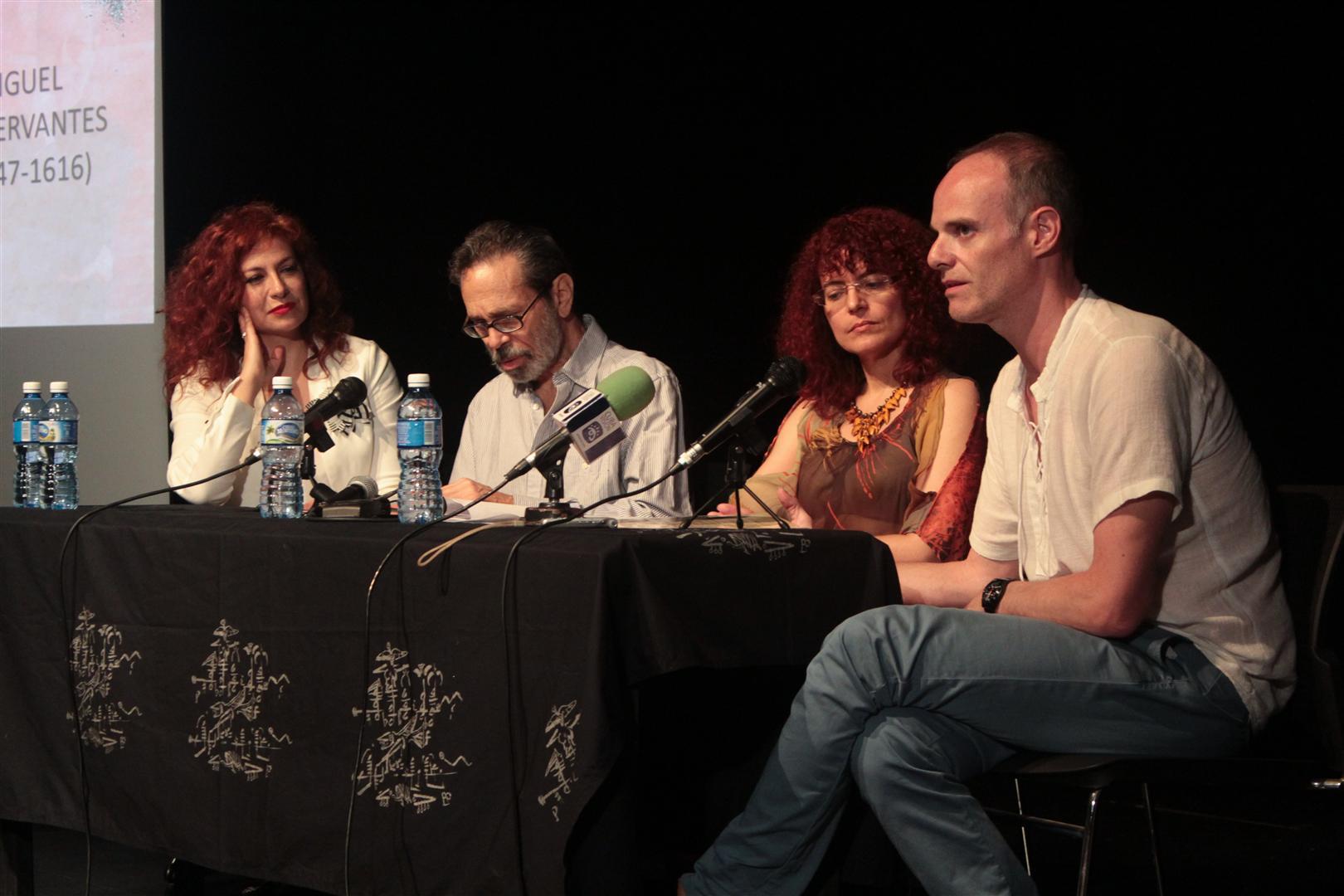 De izquierda a derecha: Pilar Jurado, Leo Brouwer, Isabel Hernández y Ricardo Gallén